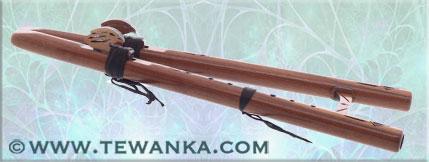 indianen-fluit-dubbel-eagle-walnoot
