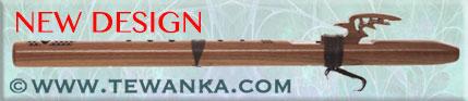 indianen-fluit-redtail-hawk-walnoot