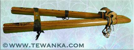 indianen-fluit-twintail-walnut