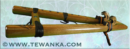 indianen-fluit-twohawks-walnut